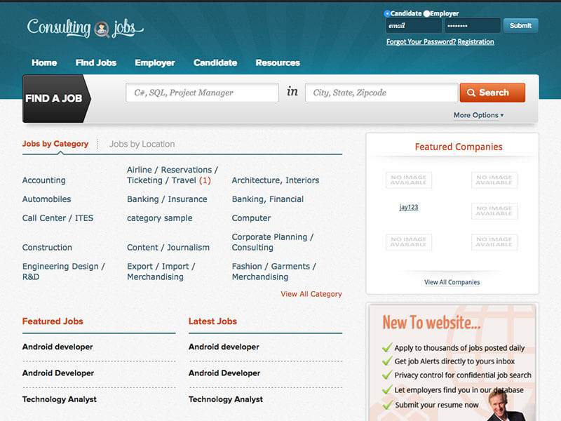 Job portal archives website designing development mobile a complete job portal thecheapjerseys Image collections